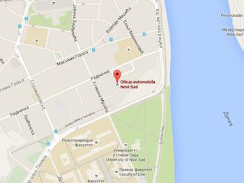 lokacija agencije za otkup automobila Novi Sad na mapi
